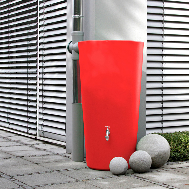 Rain Bowl Water Tank - Chilli 210 Litre