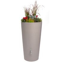 Rain Bowl Flower Taupe 150Ltr Water Tank