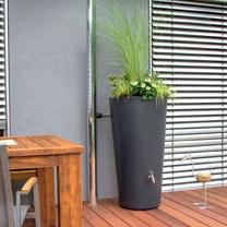 Rain Bowl Flower Water Tank - Slate 150 Litre
