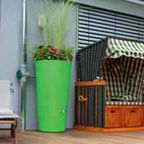 Rain Bowl Flower Water Tank - Kiwi 150 Litre