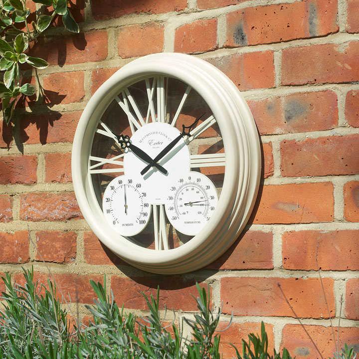 Exeter Cream Clock