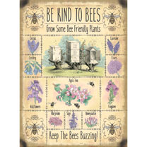Bee Kind Metal Sign