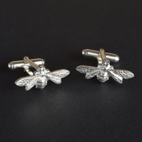 Pewter Bee Cufflinks