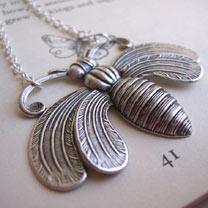 Honey Bee Necklace - Silver