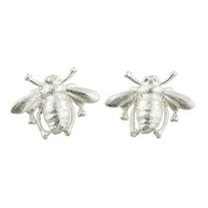 Silver Bee Stud Earrings