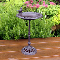 Cast Iron Standing Bird Bath