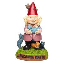 The Crazy Cat Lady Gnome