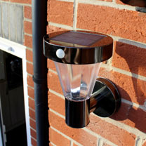 Black Nickel Solar Wall Light