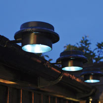 Black Gutter Solar Light