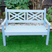Salcombe 2 Seater Zero Maintenance Bench - Blue