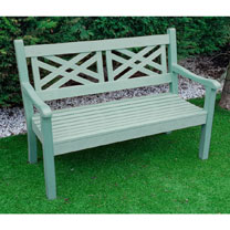 Salcombe 3 Seater Zero Maintenace Bench - Duck Egg Green