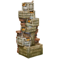 Waterfall Crates Easy Fountain