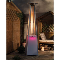 Tahiti 13kW Flame Heater with LED Light Base