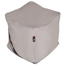 The Pouf Bean Bag Footstool - Light Grey/Silver