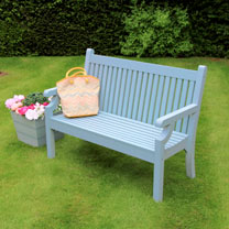 Seaton 2 Seater Zero Maintenance Bench - Blue