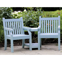 Seaton Zero Maintenance Love Seat - Blue