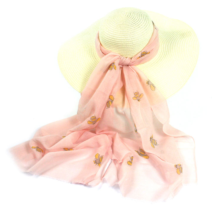 Bee Scarf Pink