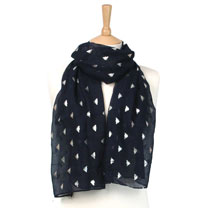Silver Bee/Navy Scarf