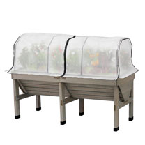 VegTrug Home Farm Kit - 1.8m Greywash with Frame and Cover