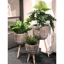 Flower Pot Grey - Set 3 Pieces
