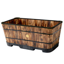Tapered Large Trough Planter - Burnt Oak