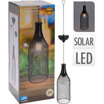 Wine Bottle Solar Metal Hanging Light