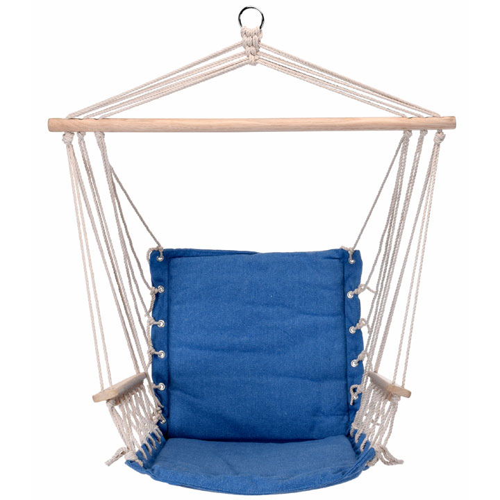 Hanging Hammock Chair - Solid Blue