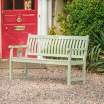 RHS Rosemoor 5 Bench - Sage Green