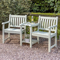 RHS Rosemoor Companion Seat - Sage Green