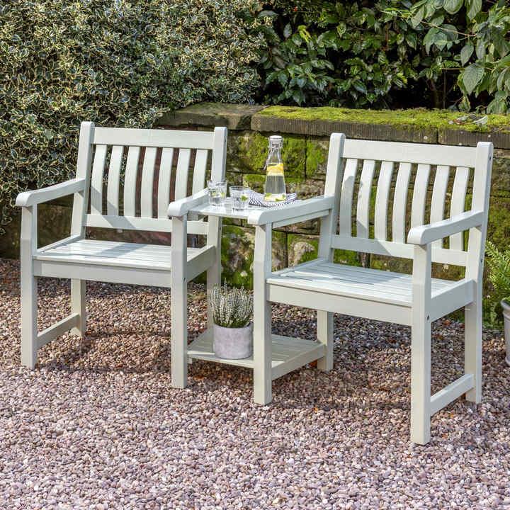 RHS Rosemoor Companion Seat - Sage Green / Cushion