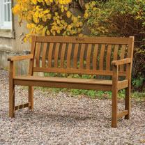 RHS Chelsea 4' Bench - Teak / Cushion