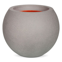 Tutch Vase Ball-Shaped Planter - Grey