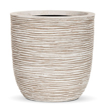 Capi Nature Planter - Egg Rib White