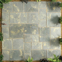 Abbey Paving Random Patio Kit - 10.22m2 Antique