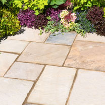 Natural Sandstone Patio Kit - 10.2m2 Eastern Sand