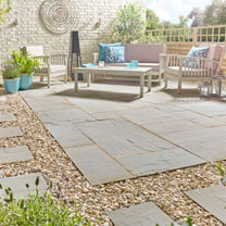 Natural Sandstone Patio Kit - 15.3m2 Lakefell