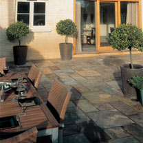 Natural Slate Patio Kit - 5.5m2 Rustic Bronze