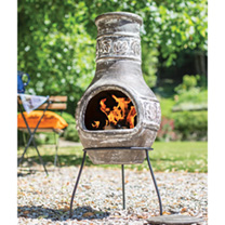 This maple leaf medium chimenea adds class to your garden. The maple leafs are patterned around the top of the chimenea giving it that detailed look y