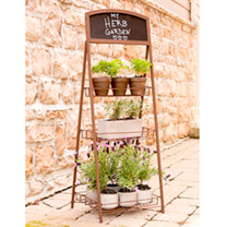 3 Tier Rustic Folding Chalkboard Plant Stand