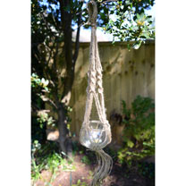 Hanging Glass Bowl on Rope