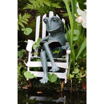 Metal Reading Frog