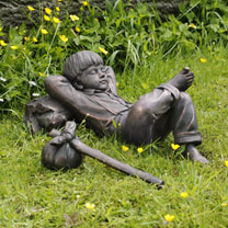 Sleeping Boy Lawn Sculpture