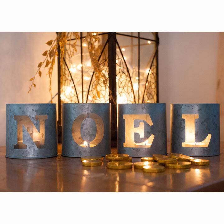 Noel Tea Light Holders (Set of 4)