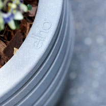 40cm Allure Ribbon Pot - Mineral Clay