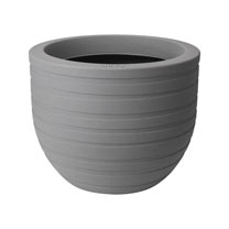 40cm Allure Ribbon Pot - Mineral Clay
