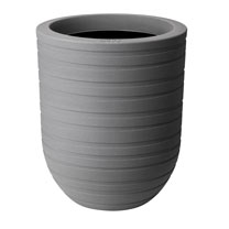 43cm Allure Ribbon High Pot - Mineral Clay Colour x 2