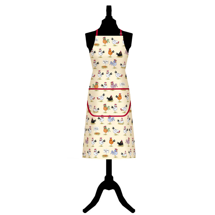 Chickens Apron & Oven Gauntlet