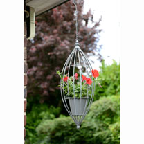 Hanging Flower Pot - Grey
