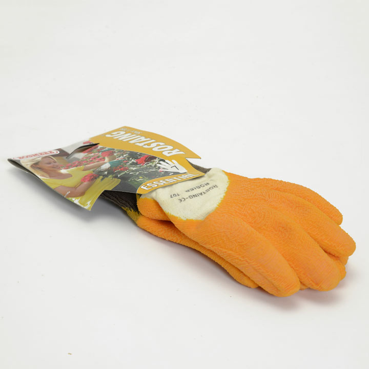 Gardening Gloves - Essential Latex Rose Yellow Size 7