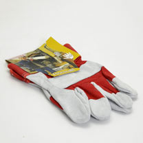 Gardening Gloves - Heavy Duty Cotton/Suede Work Size 10